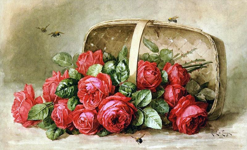 шляпка, розы, картина загрузить