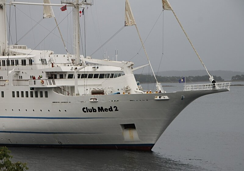 Норвегия, Молде, парусник Club Med 2 . Norway, Molde, Sailing ship Club Med 2