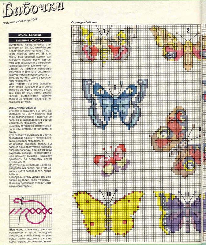 Рисунки для вышивки на трикотаже 13