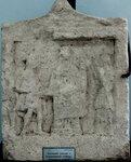 Вотивный рельеф с изображением Кибелы, Гермеса и Гекаты.