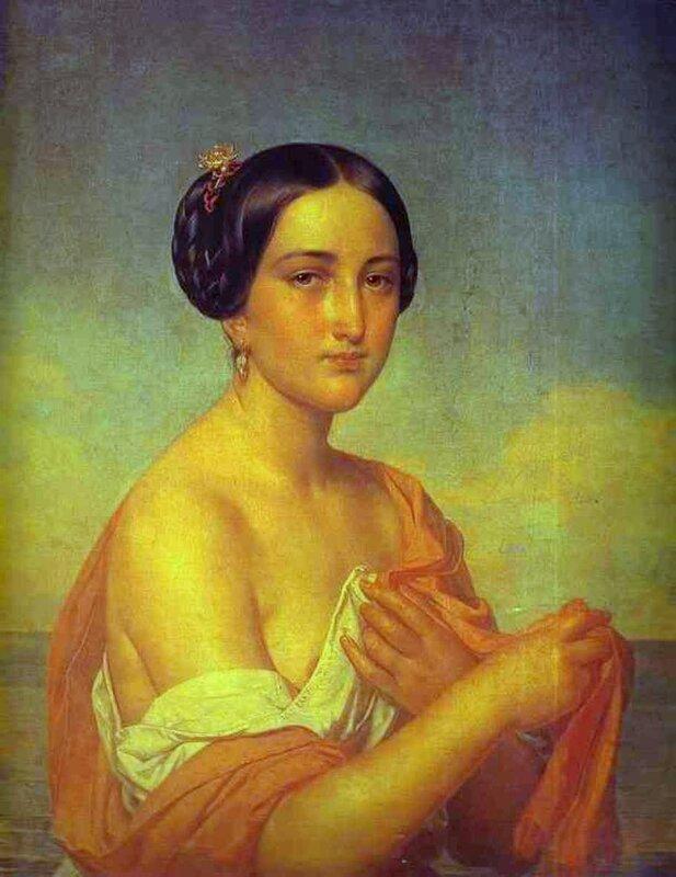 А.Тыранов. Портрет итальянки. Ок. 1851.jpg