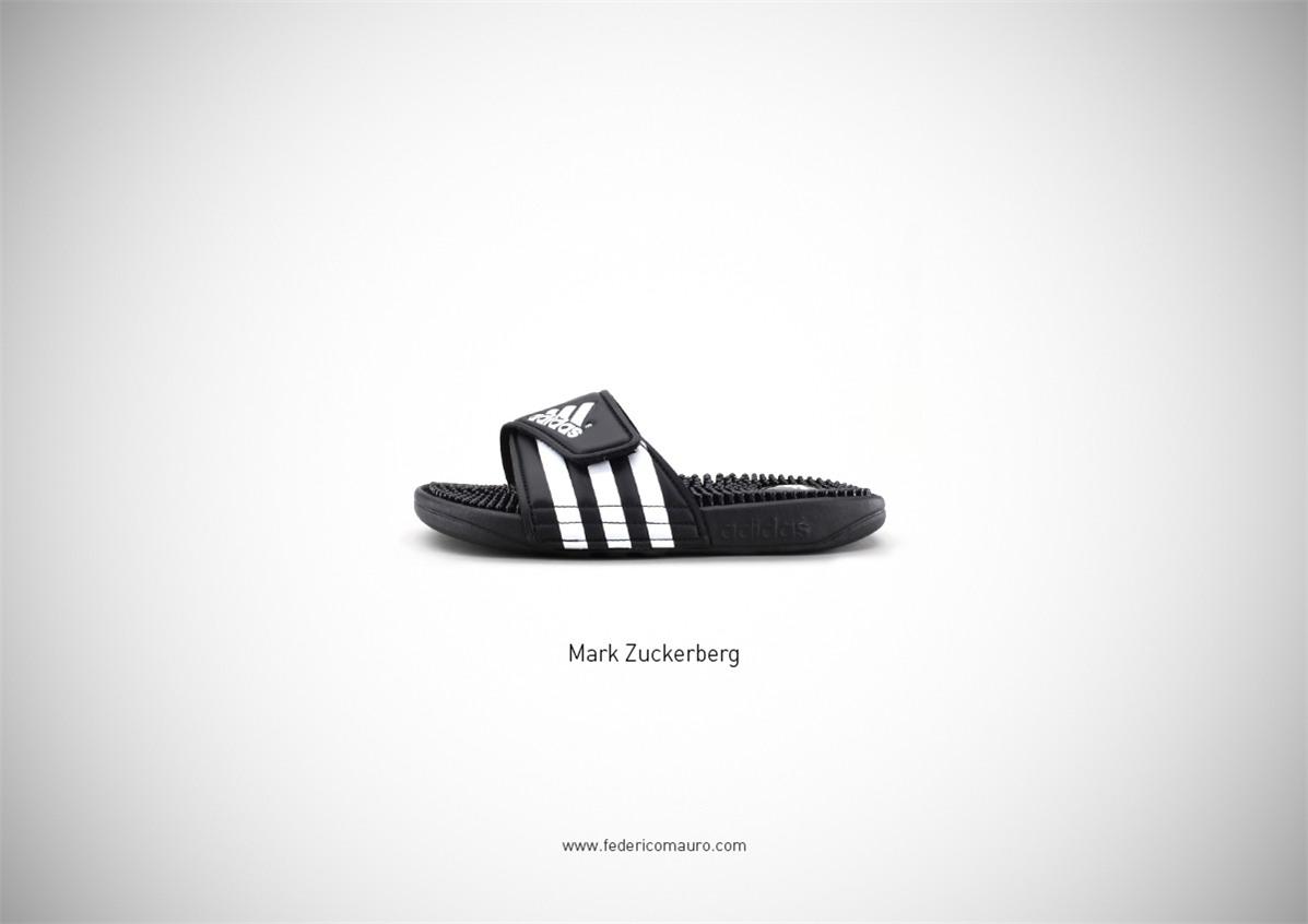 Знаменитая обувь культовых персонажей / Famous Shoes by Federico Mauro - Mark Zuckerberg