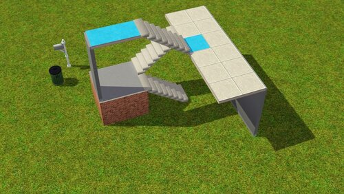 как уменьшить лестницу в симс 4