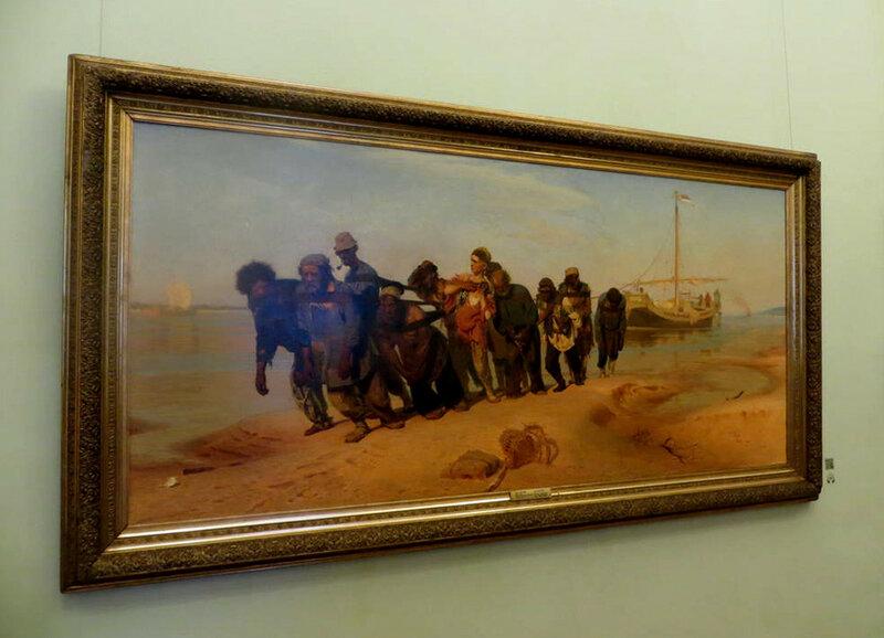 И. Репин. Бурлаки на Волге. 1873