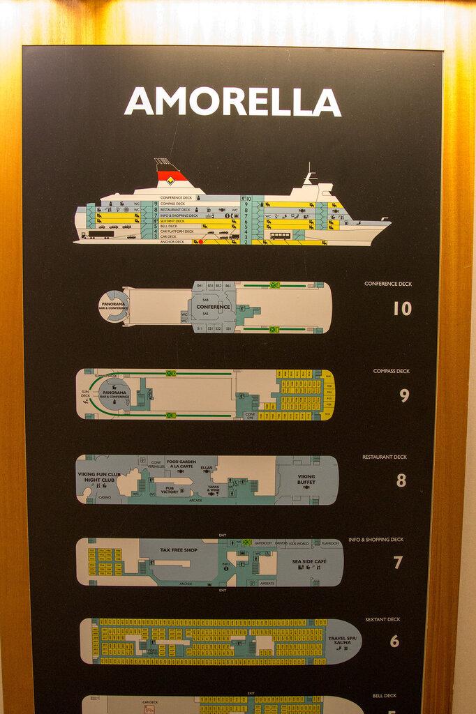 Схема парома Стокгольм-Турку
