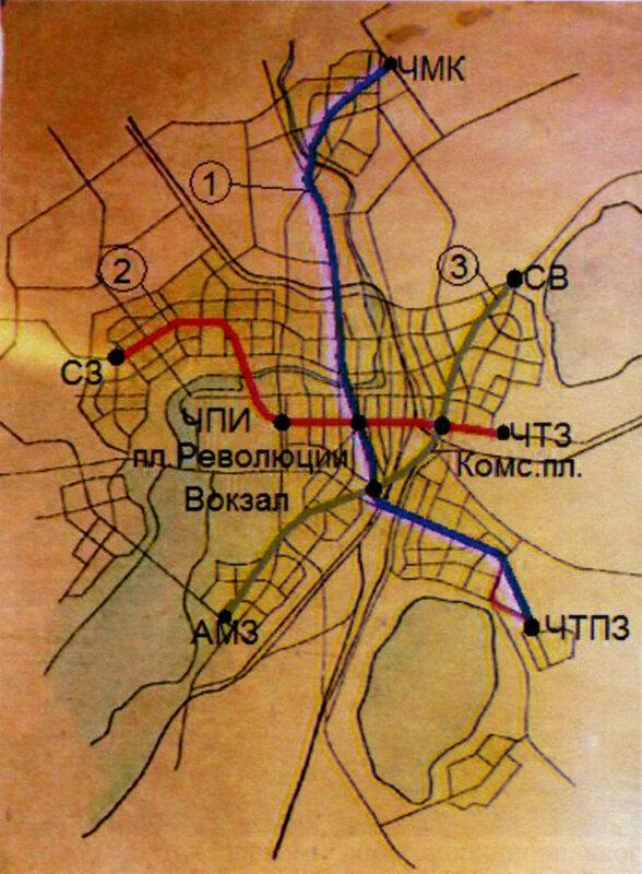 Схема второго варианта трассы