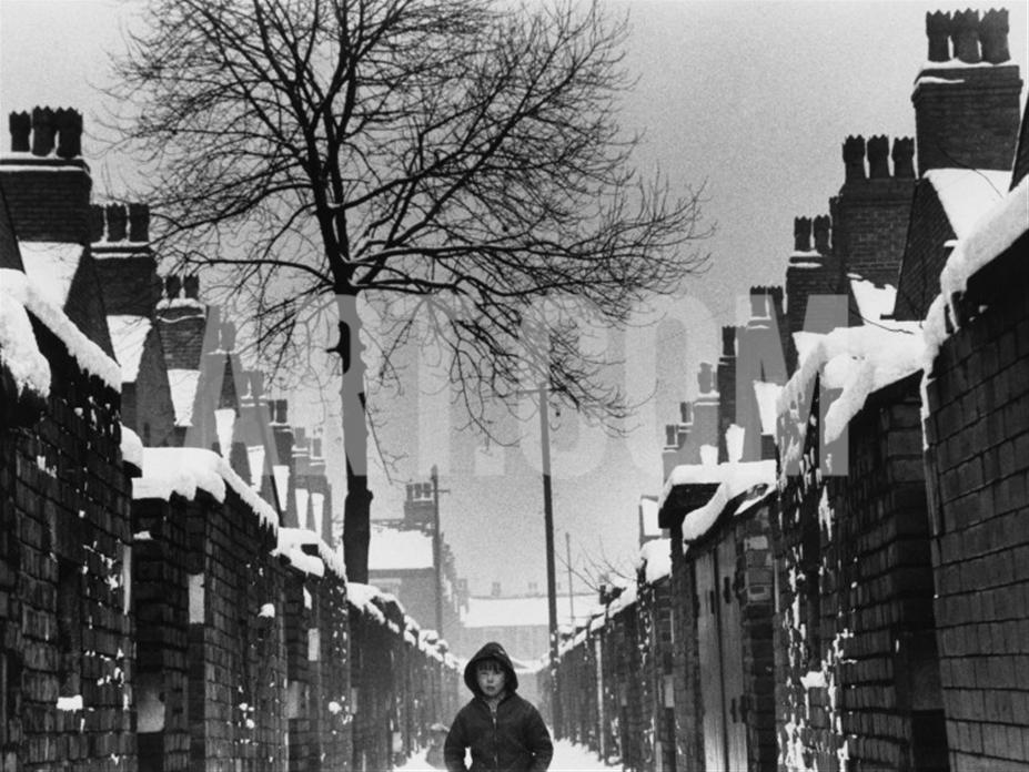 Shirley Baker.Boy in an Alleyway - Winter - Manchester