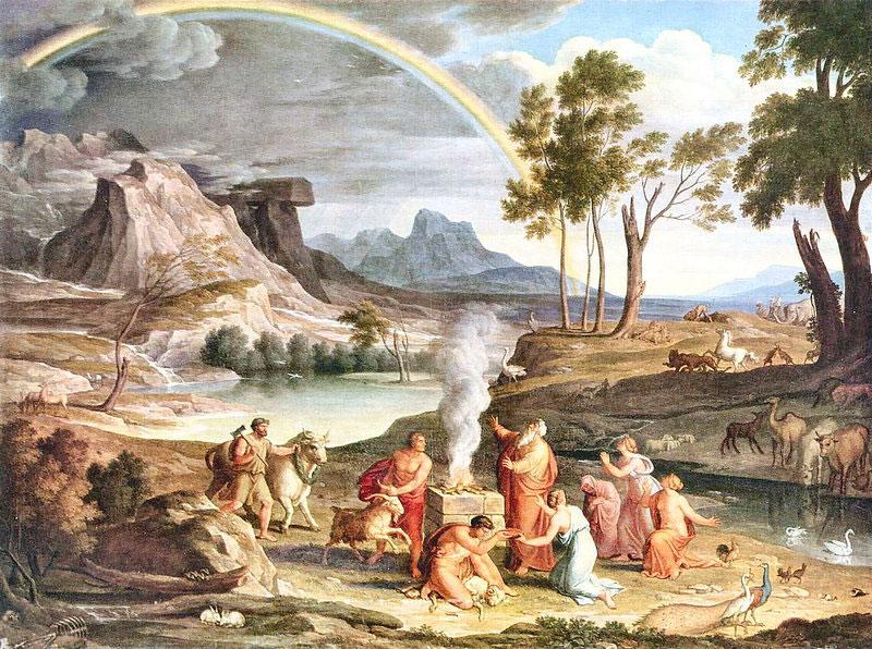 Йозеф Антон Кох. Пейзаж с жертвоприношением Ноя.jpg