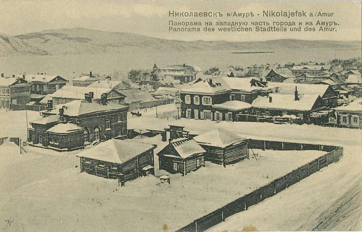 Панорама на западную часть города и на Амур