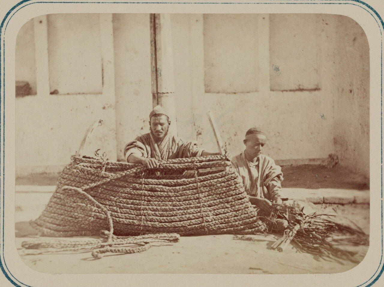 Камышовое производство.  Приготовление барданов