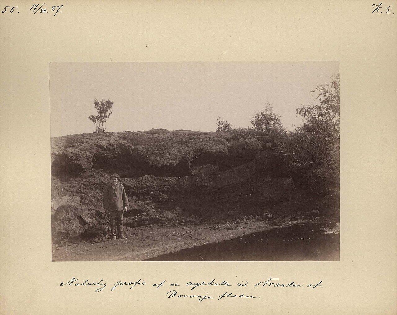 17.7.1887. Природный профиль берега Вороньей реки