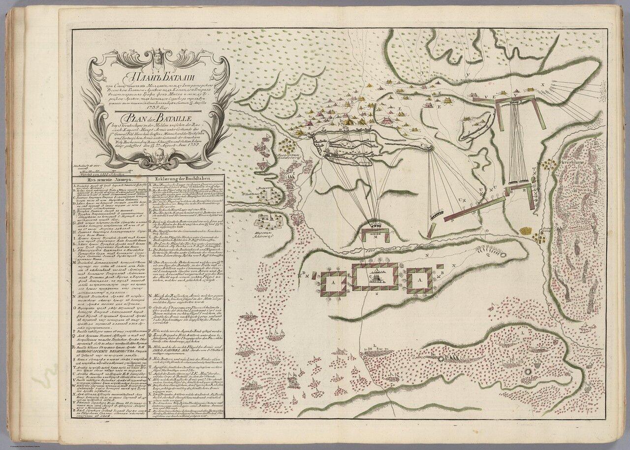 План баталии в Молдавии. 1739