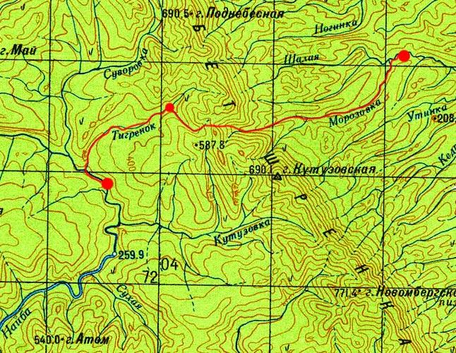 Карта маршрута 25 августа