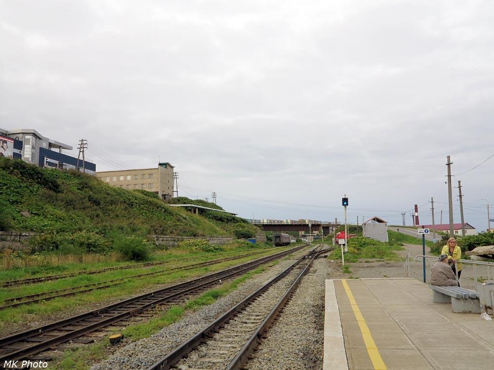 Холмск-Южный, вид на юг
