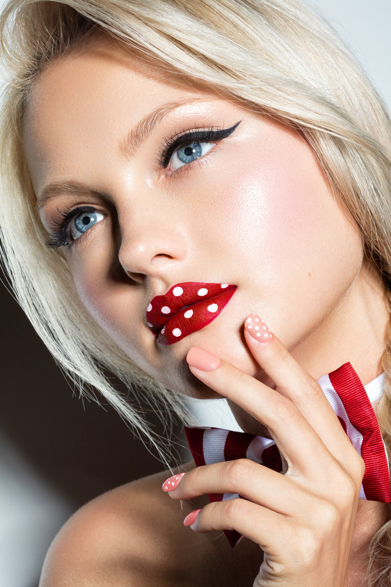 Полоски и горошек - Stripes & Polka Dots / Stunning Eugena Washington and Ekaterina Koba by  Julia Kuzmenko McKim