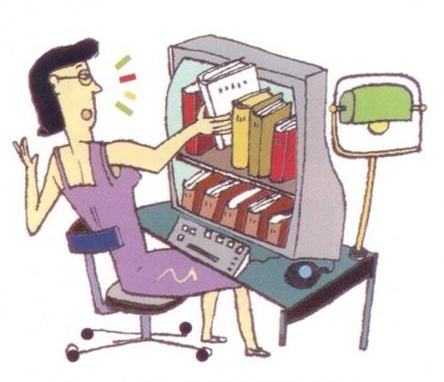 День библиотек! Библиотекарь на работе