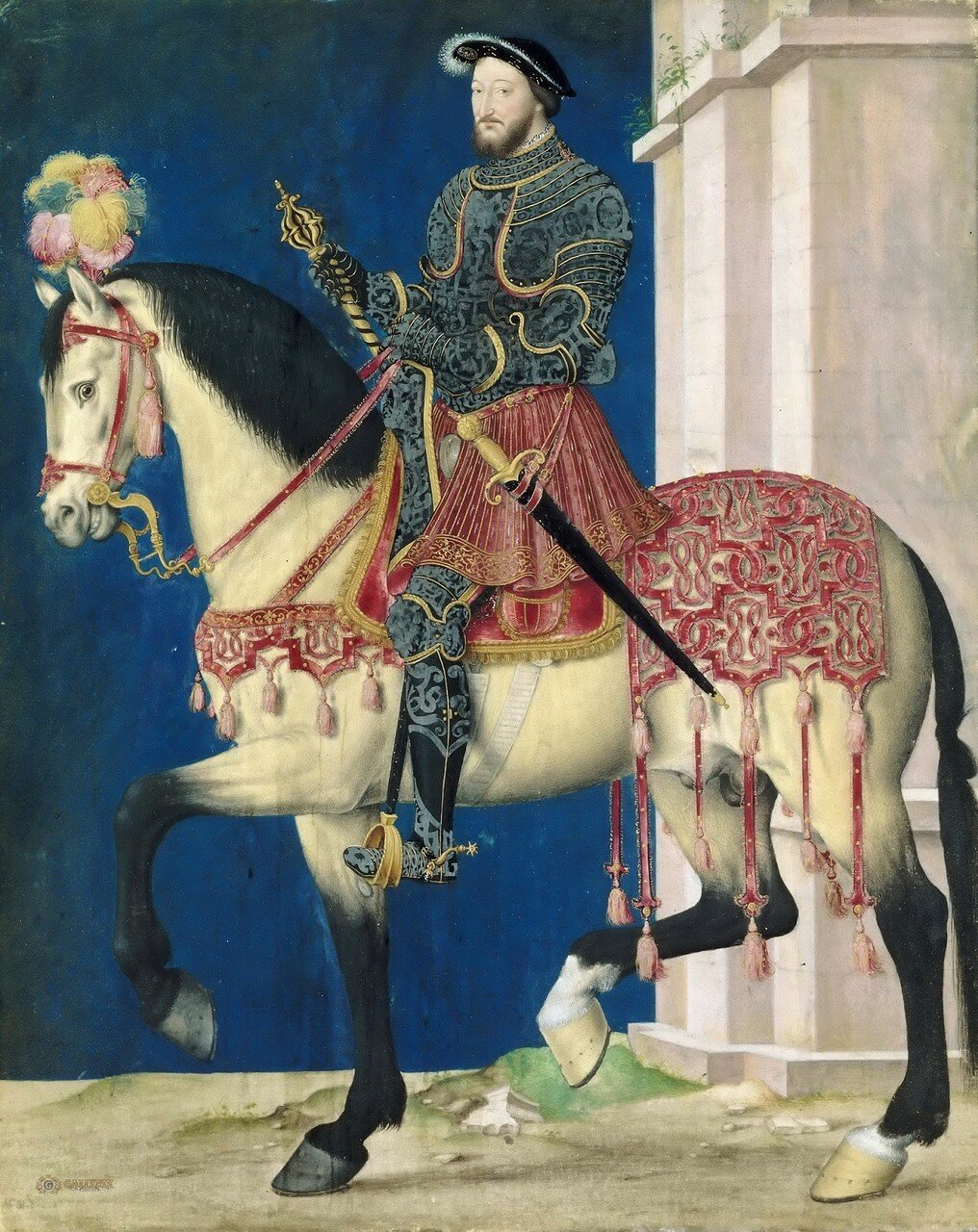 Конный портрет Франциска I_27 х 22_д.,м Лувр.jpg
