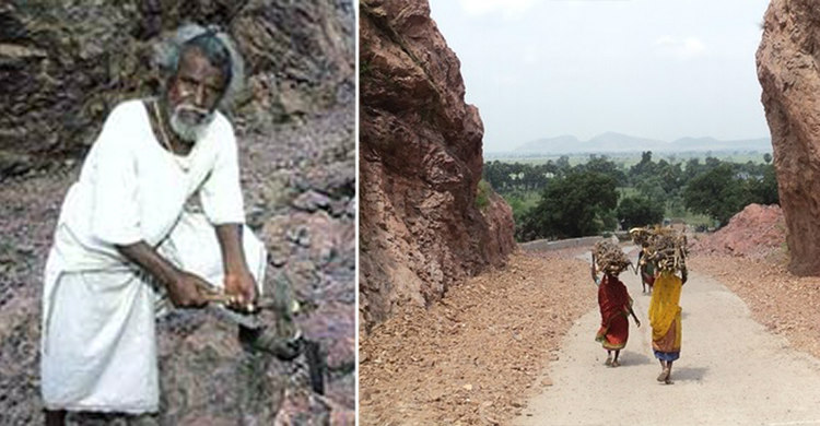 4. Дашрат Манджи за 22 года самостоятельно пробил 100-метровый проход через гору, чтобы сократить ма