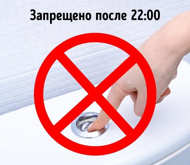 © depositphotos  ВШвейцарии законодательно запрещено сшумом спускать воду унитаза вмногоква