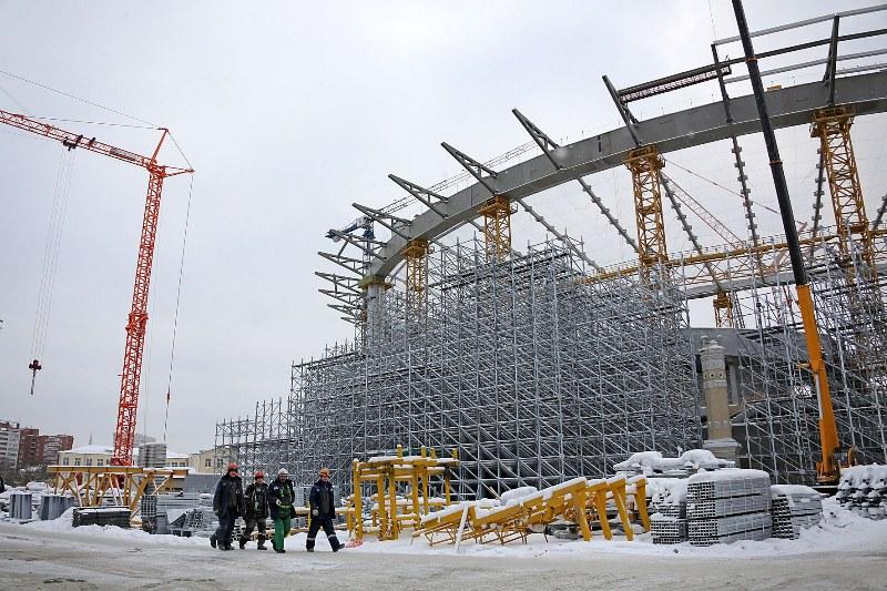 Бетонные работы настадионе вЕкатеринбурге завершены на95 процентов