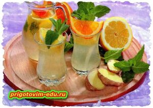 Лимонад имбирный с мятой