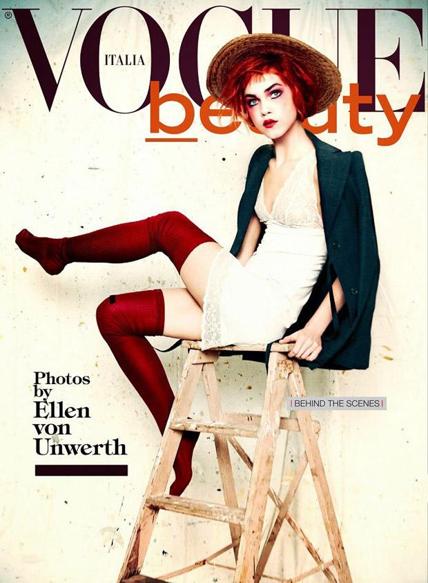 Emma Stern Nielsen & Line Brems by Ellen von Unwerth for Vogue Italia