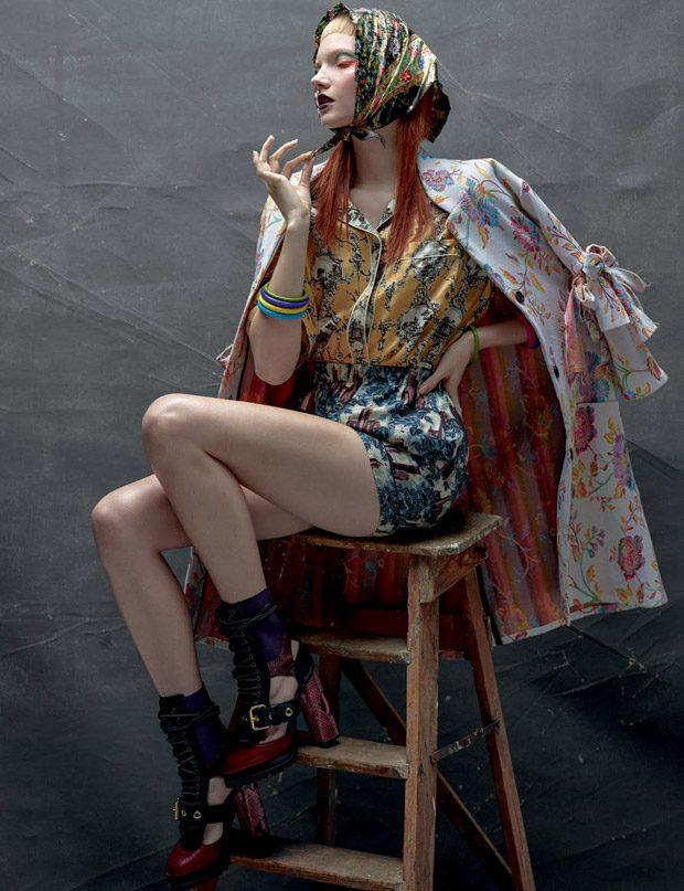 Anastasia Ivanova Poses for Vogue Portugal December 2016 Issue