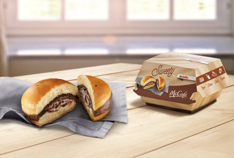 McDonald's reveals a Nutella burger