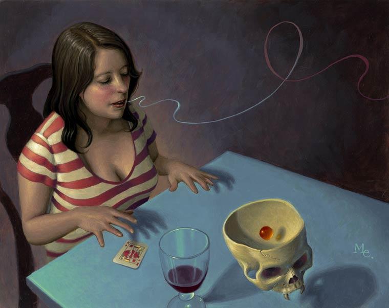 A Girl Can Dream - Les peintures oniriques et surrealistes de Mark Elliott