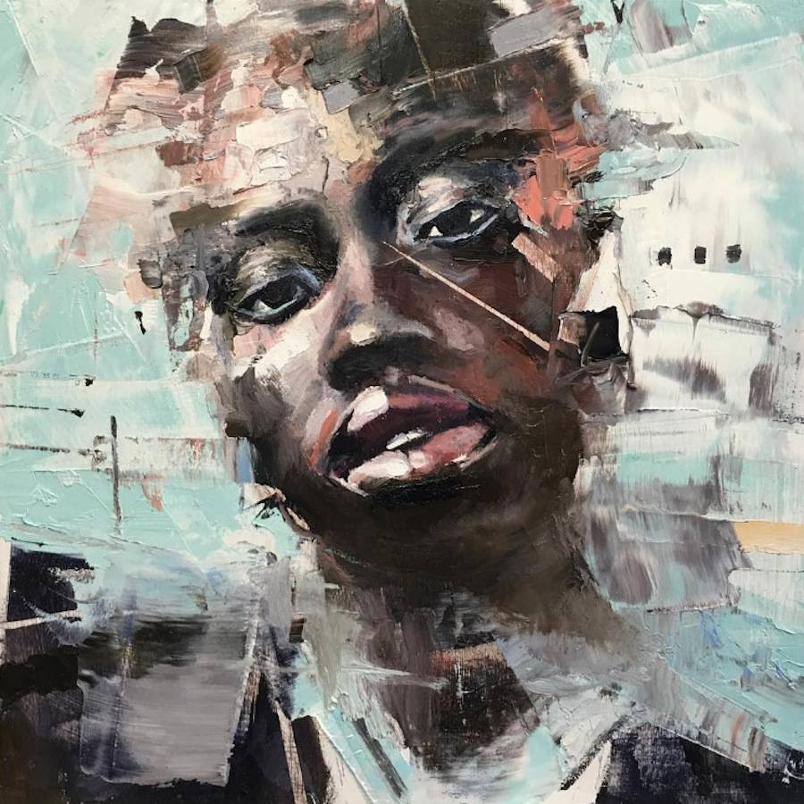 Abstract Paintings of Faces Portraits