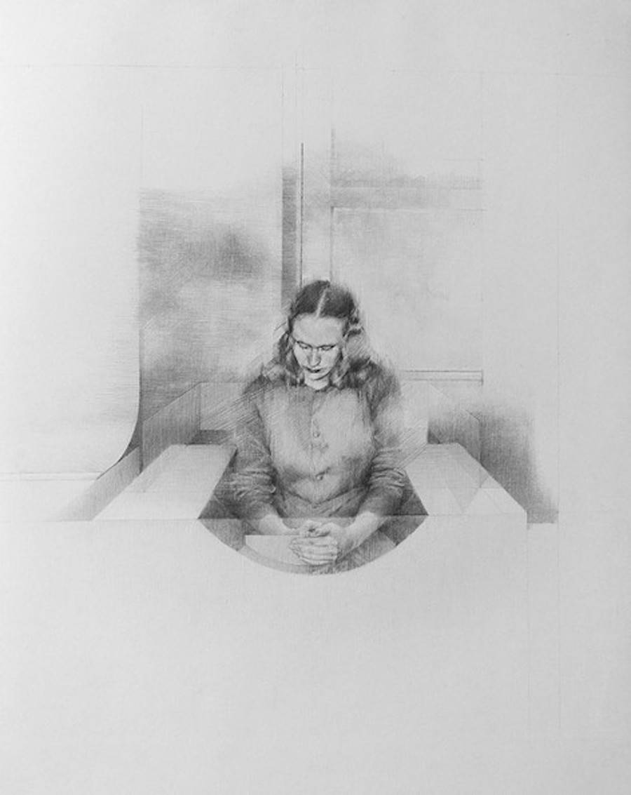 Alienated & Praying People Graphite Drawings