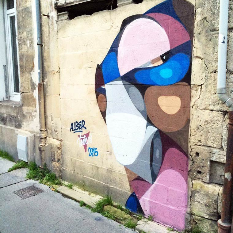 Street Art - The colorful portraits of ALBER
