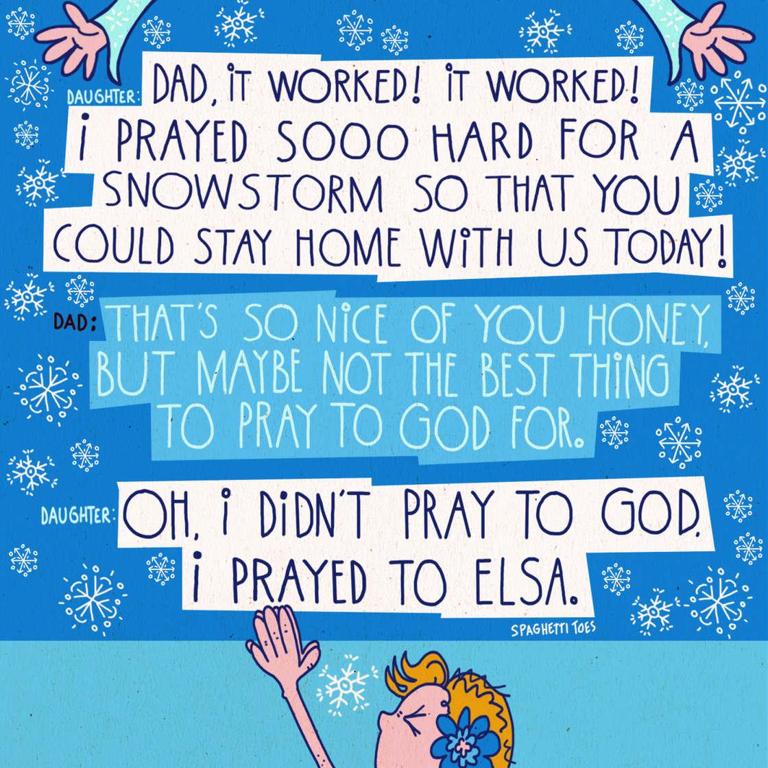 Ce Papa creatif continue d'illustrer les phrases hilarantes de sa petite fille