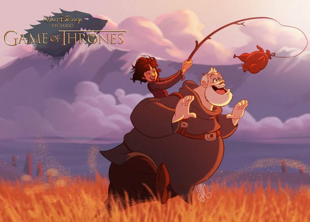 Si Game Of Thrones avait ete dessine par Disney…