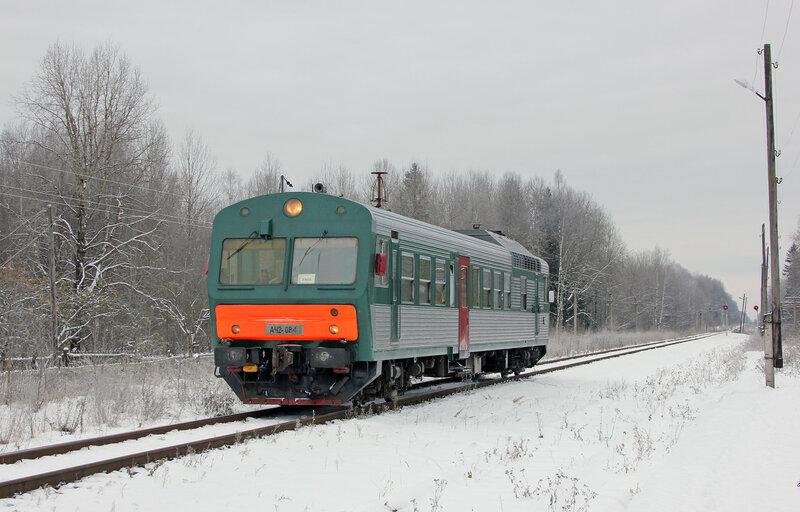 АЧ2-084 рейсом 6432 Вязьма - Ржев-Балтийский на станции Рождествено, приближение