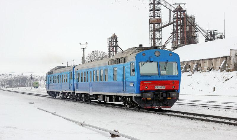 АЧ2-050 рейсом 6441/6402/6364 Орёл — Верховье — Ливны-1 (согласованные поезда) на станции Залегощь