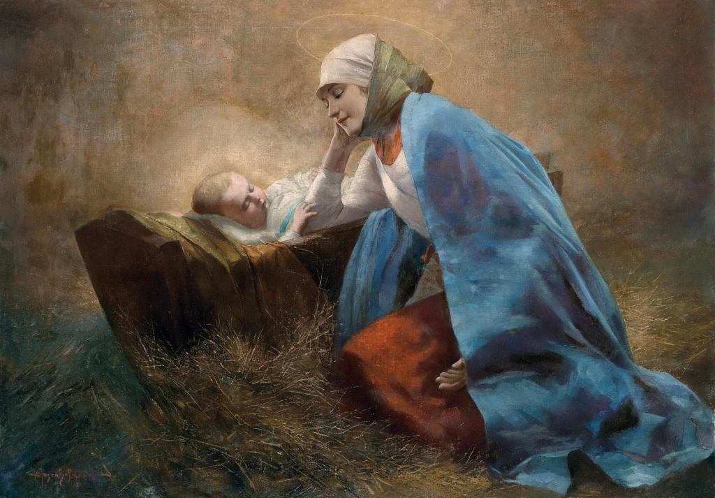 Дева Мария с Младенцем Иисусом (Maria with the infant Jesus)_70 х 100_х.,м._Частное собрание.jpg