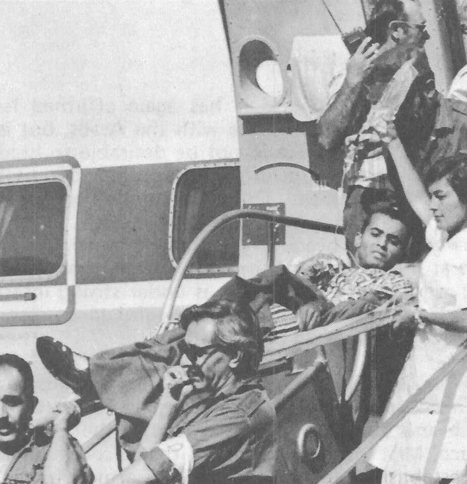 Израильские военнопленные возвращаются домой после арабо-израильской войны