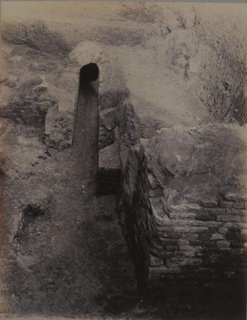 Рю де Аренас. Вид загона для животных. 1883