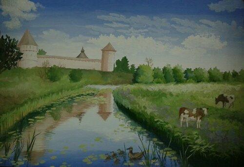 Картины юных художников, Суздаль-2013
