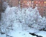 Утро нового дня после снегопада.
