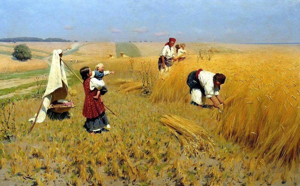 Жатва на Украине, 1896 год