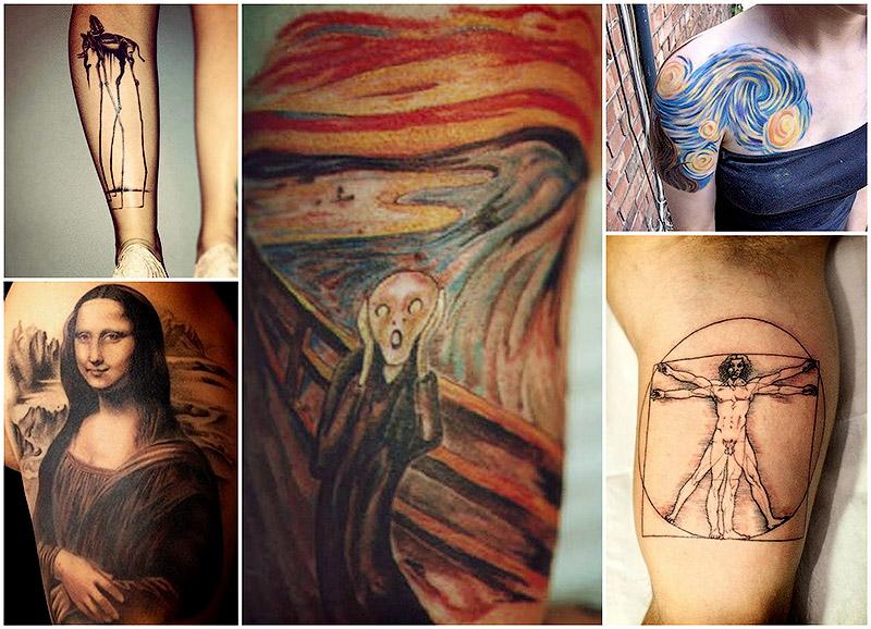 Татуировки, вдохновленные произведениями искусства - Всё ... вероломство