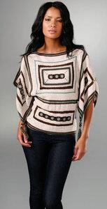 Индейская геометрия. Пуловер-пончо с кистями от Анны Суи Наши воплощения