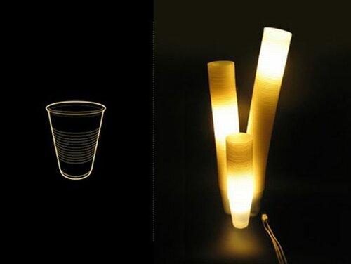 Необычные светильники из пластиковых стаканчиков