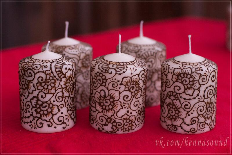 Узоры на свечах своими