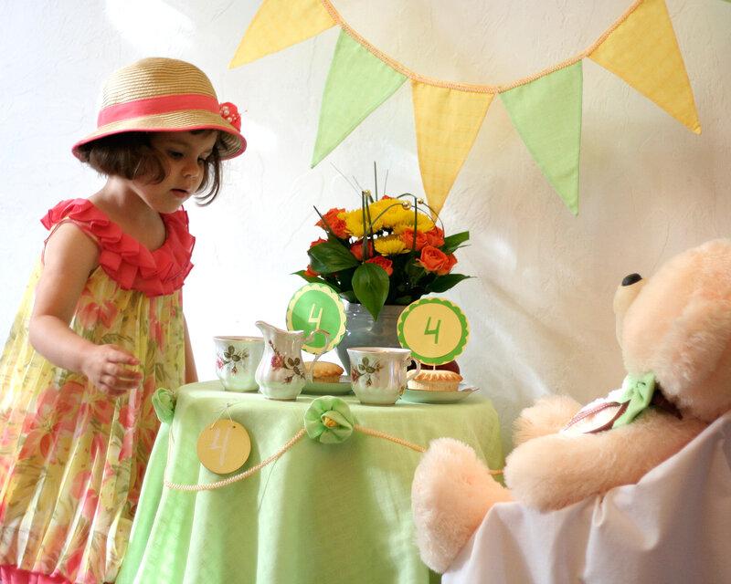 как оформить детское чаепитие
