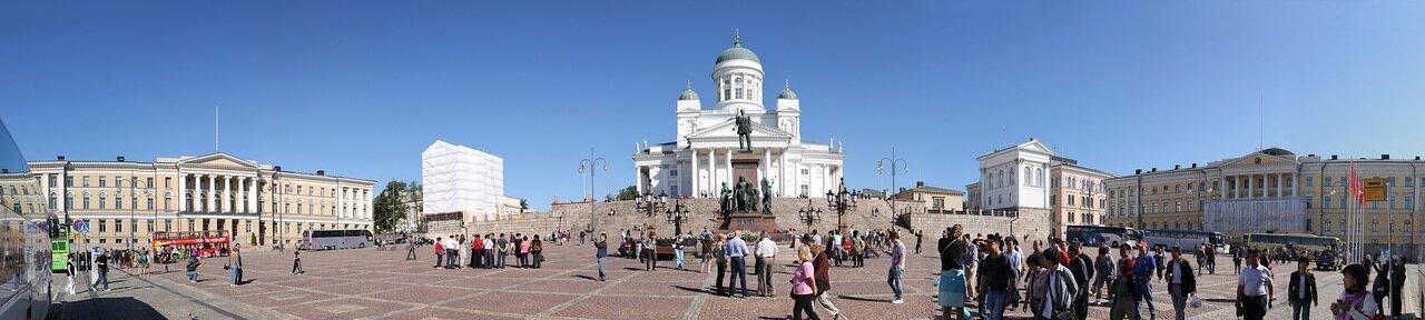 Senat square (Senaatintori, Senatstorget), Helsinki. panorama