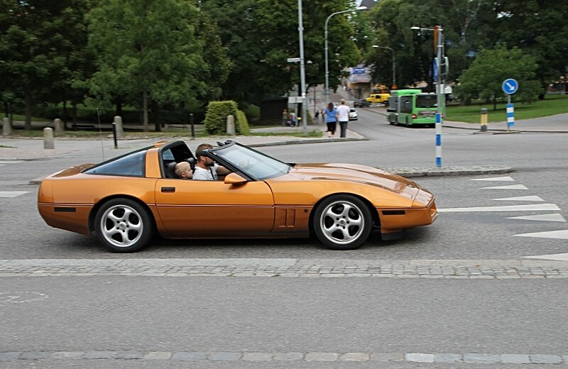 Уппсала. Uppsala. Автоклассика, Oldtimer. 1984 Chevrolet Corvette Coupe (C4)