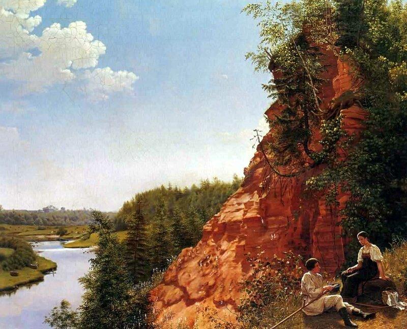 Вид на Реку Тосно, Алексей Тыранов, картины